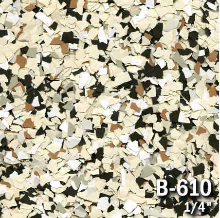 b610a flake resin flooring material colors - colored resin flakes