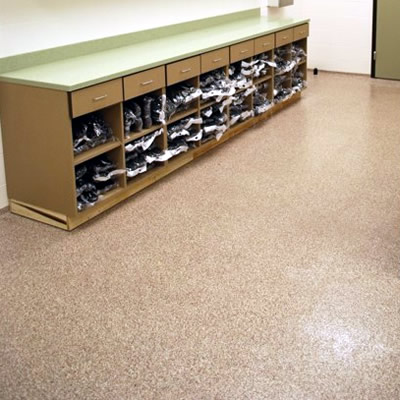 Decofloor Flake Broadcast Aggregate Flooring System - Similar to Epoxy flooring